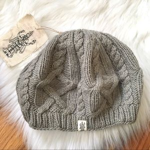 Nirvanna Designs Beret Beanie Hat Cable Knit